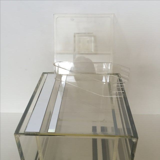 Lucite Ice Bucket With Mirrored Accents For Sale In West Palm - Image 6 of 8