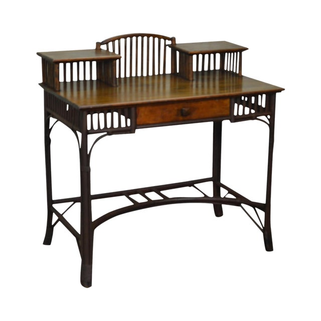 Old Hickory Style Antique Rustic Writing Desk - Old Hickory Style Antique Rustic Writing Desk Chairish