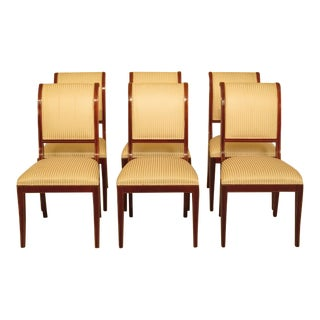 Set of 6 Kindel Neo Classical Mahogany Dining Room Chairs For Sale