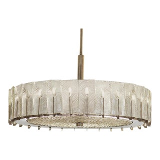 Large Austrian Chandelier by Rupert Nikoll, 1950s For Sale