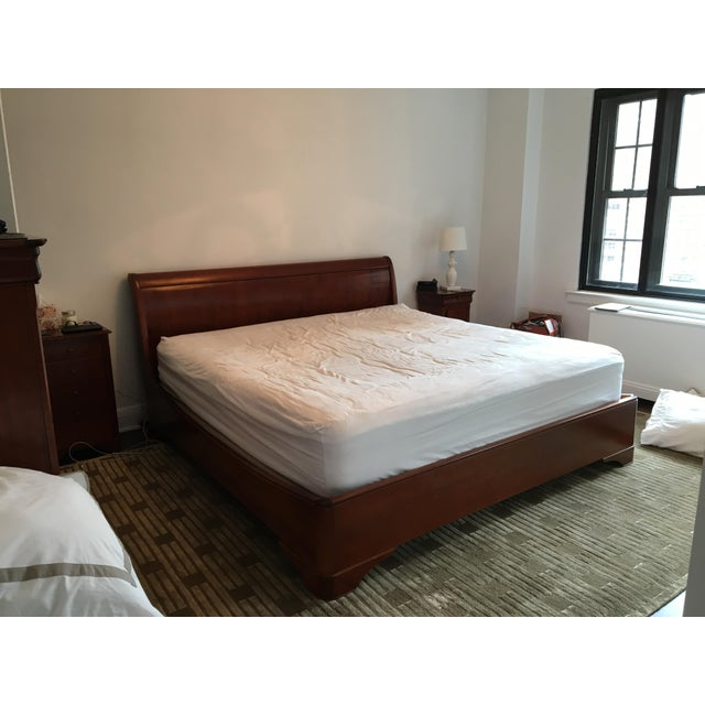 grange louis philippe king sleigh bed | chairish