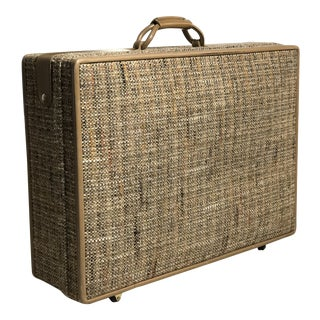 1950s Mid-Century Modern Woven Hartmann Suitcase For Sale