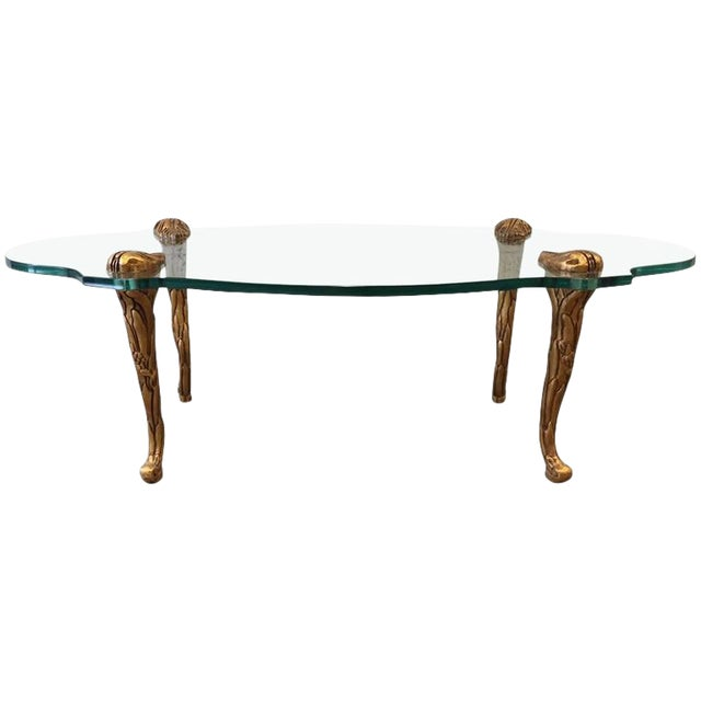 French Giltwood and Glass Coffee Table For Sale