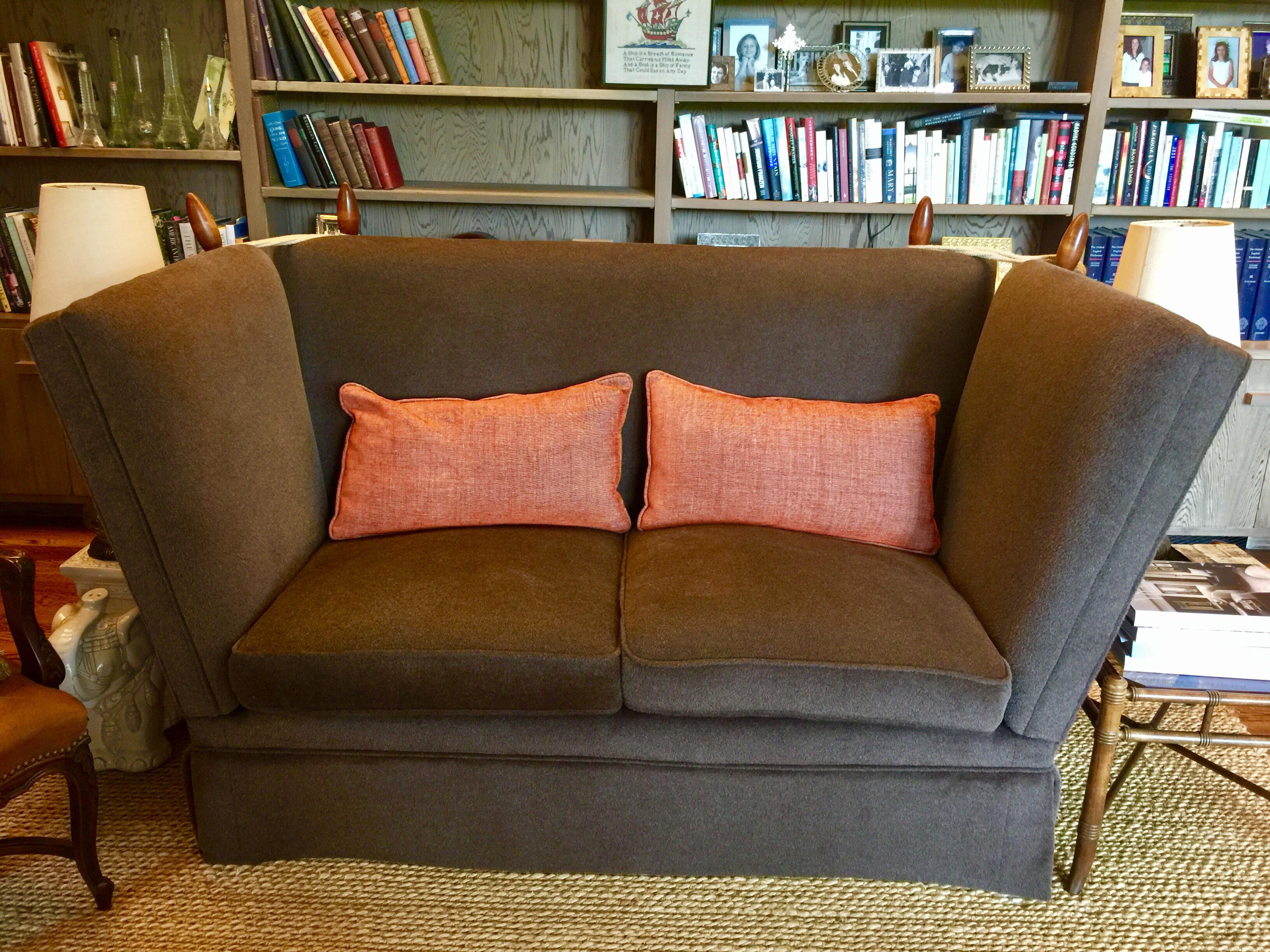 Knole Brown Mohair Sofa   Image 2 Of 7 Sc 1 St Chairish