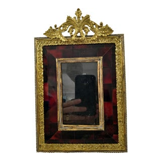 Maitland Smith Cast Brass and Tortoise Shell Picture Frame For Sale