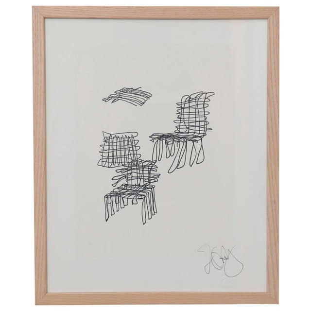1980s Vintage Frank Gehry Signed Lithograph For Sale