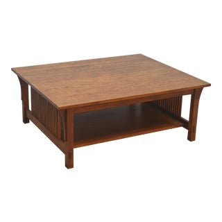 Mission Stickley Oak Coffee Table For Sale