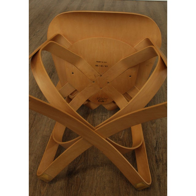 "Frank Gehry for Knoll Bent Wood Pair ""Har Trick"" Chairs For Sale - Image 10 of 13"