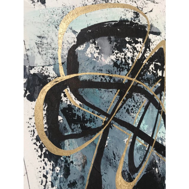 """Modern Original """"Orbits and Comets"""" Mixed Media by Christy Almond For Sale - Image 10 of 12"""