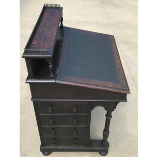 19th Century William IV Oak & Leather Davenport Antique Desk Preview
