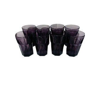 Libbey Duratuff Flat IceTea Gibraltar Glasses - Set of 8 For Sale