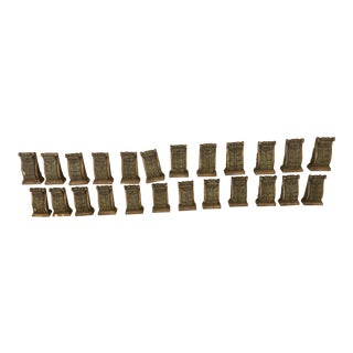 Antique Style Wood Moldings - Set of 24 For Sale