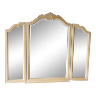 Ethan Allen Country French Tri Fold Mirror For Sale