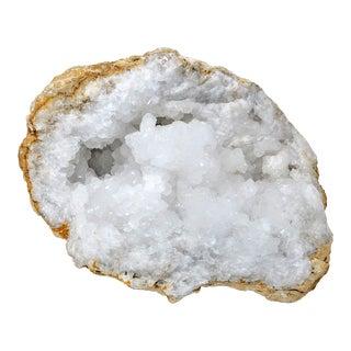 Large White Crystal Geode Display