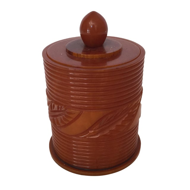 Toffee Toned Bakelite Box For Sale