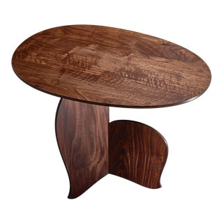 """Nane Tiri"" Side Table in Walnut by Hozan Zangana For Sale"