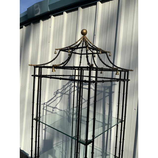Asian Vintage Chinoiserie Pagoda Shaped Etagere Shelf For Sale - Image 3 of 7