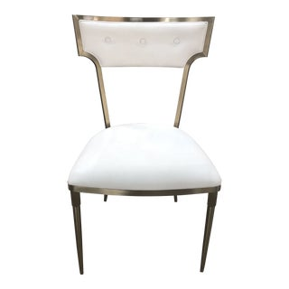 Caracole Modern What Goes Around Brass Dining Chair For Sale