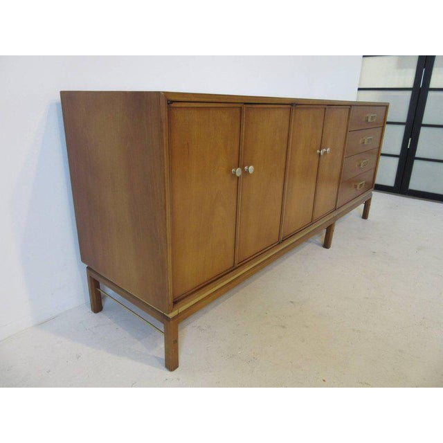 Mid-Century Modern Kip Stewart Mid-Century Mahogany and Brass Server or Sideboard for Drexel For Sale - Image 3 of 9