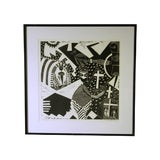 """Image of """"Sanctuary"""" Artist Proof Linocut Print by Susie Ketchum For Sale"""