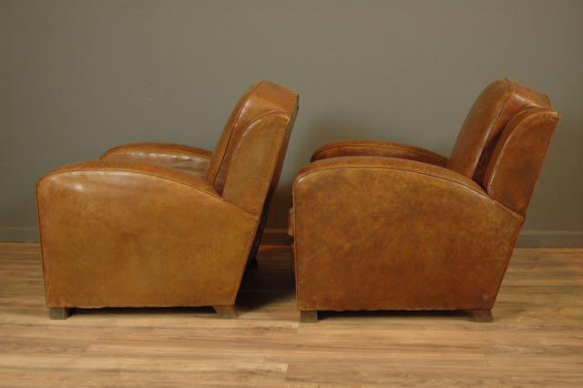 Nice French Club Chair #14 - La Manche 1940s French Club Chairs - A Pair - Image 2 Of 6
