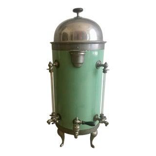 Vintage Mid-Century Jade Green Coffee Urn For Sale