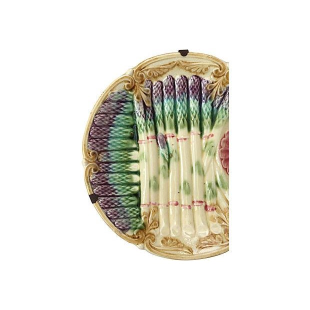 Victorian Majolica Asparagus Plate - Image 4 of 6