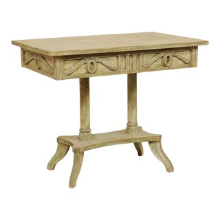 Swedish 19th Century Neoclassical Painted and Carved Wood Lindome Style Table For Sale