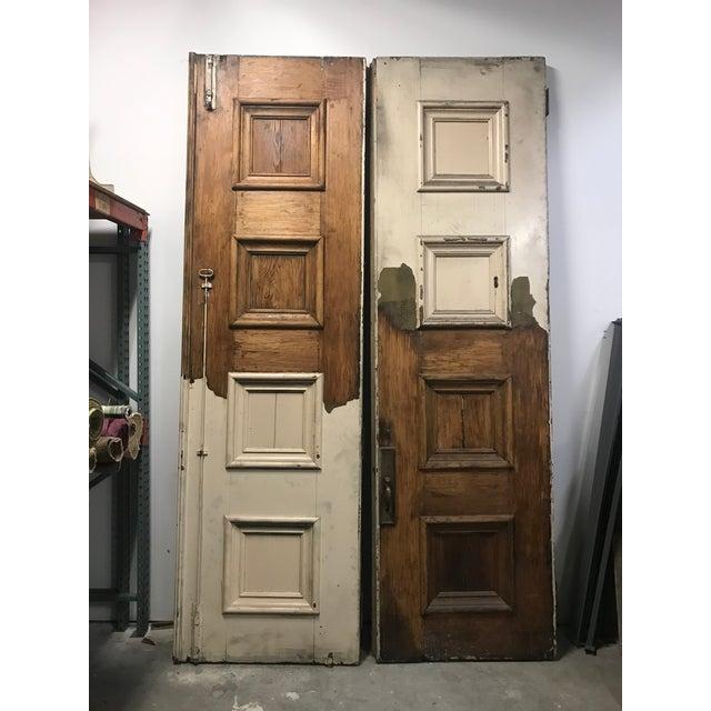 St. Paul's Catholic church doors. Fort Wayne Indiana. Church was built 1886, architect Peter Dederichs designed this...