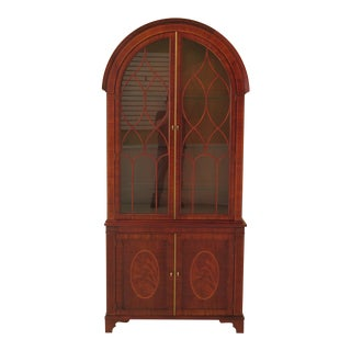 1990s Baker Dome Historic Charleston Collection Mahogany China Cabinet For Sale