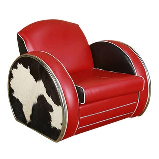 Donald Deskey Style Art Deco Jazz Club Chair For Sale