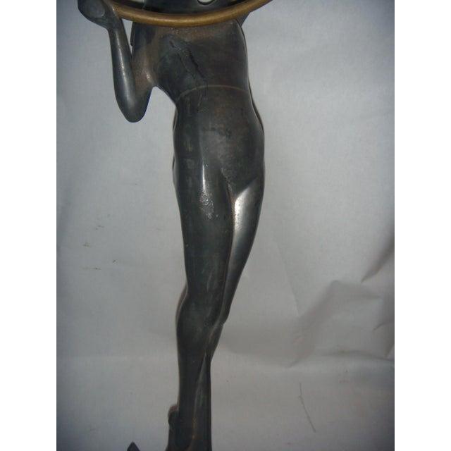 Vintage Art Deco Lady Sculpture - Image 9 of 11