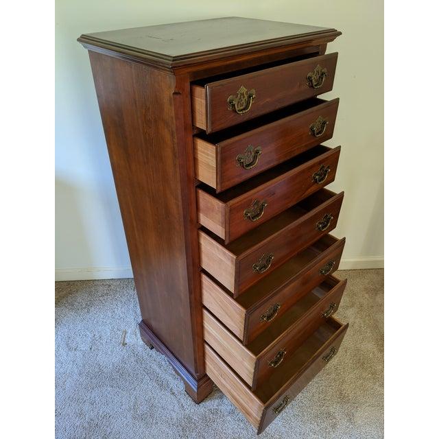 Wood Ethan Allen Knob Creek Cherry 7-Drawer Lingerie Chest (Tallboy Dresser) 31-5424 For Sale - Image 7 of 10
