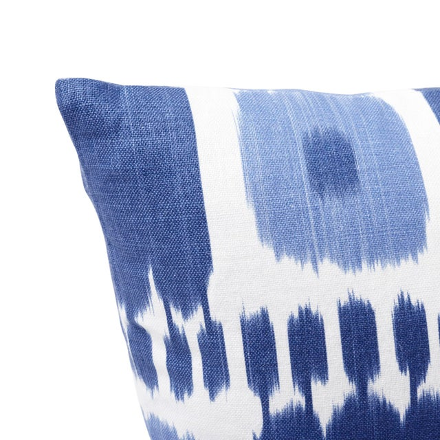 Contemporary Schumacher Kandira Pillow in Blues For Sale - Image 3 of 6