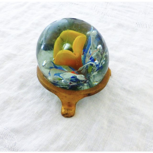 Handblown Glass Paperweight with Stand - Image 5 of 6