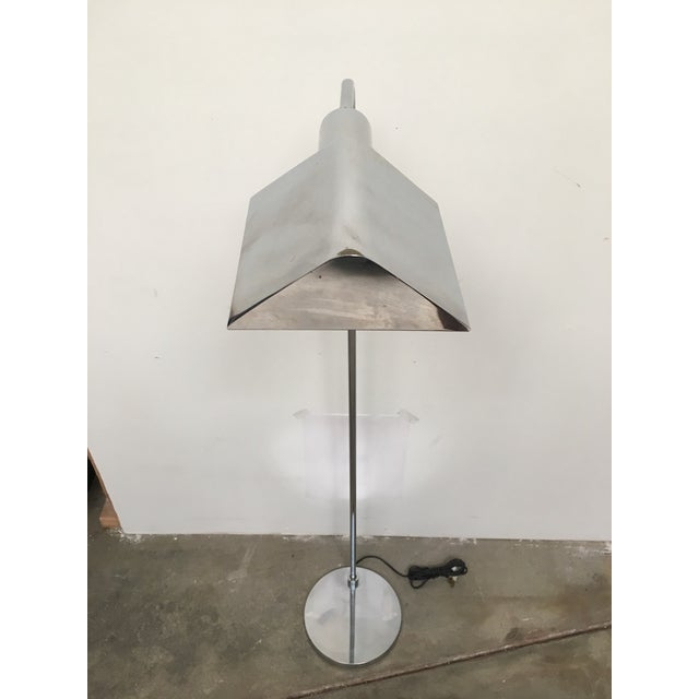 Modern Koch & Lowy Chrome Tent Shade Pharmacy Lamp For Sale - Image 3 of 8