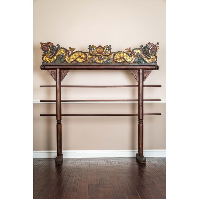 20th Century Asian Dragon of Blankets Rack For Sale - Image 4 of 4