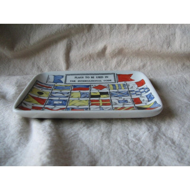 Mid-Century Modern Piero Fornasetti 1960's Flag Dish For Sale - Image 3 of 4