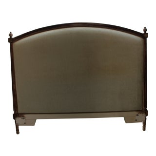 Gustavian Style Antique Swedish Carved Painted Headboard