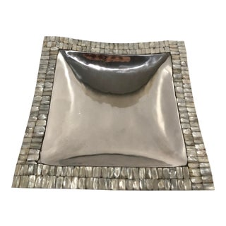 Contemporary Pewter/Armatale Decorative Tray For Sale