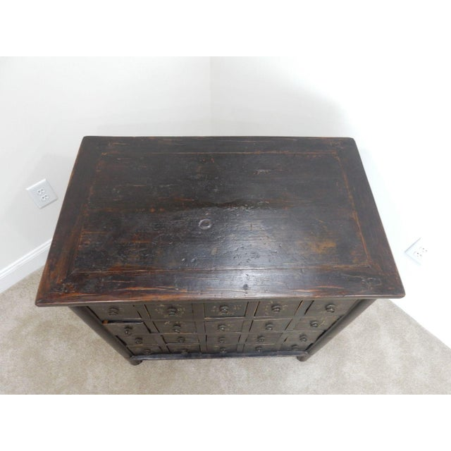 Antique Chinese Elmwood Apothecary Cabinet For Sale - Image 11 of 11