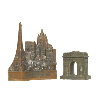 Vintage French Architectural Models, A Pair