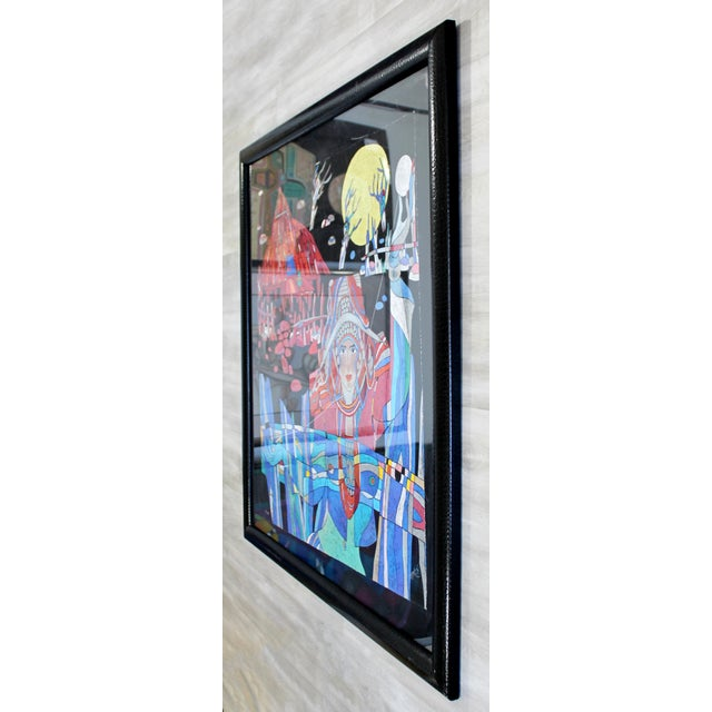 "For your consideration is a magnificent, framed lithograph, signed Wu Jian, entitled ""Yellow Moon."" In excellent..."