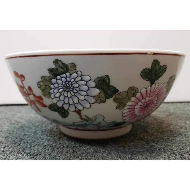 Mid 20th Century Chinese Famille Verte Porcelain Peacock/Floral Motifs Bowl For Sale In New Orleans - Image 6 of 8