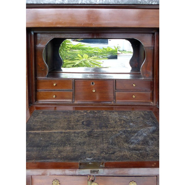19th C. French Empire Drop-Front Secretary Desk For Sale In Miami - Image 6 of 11