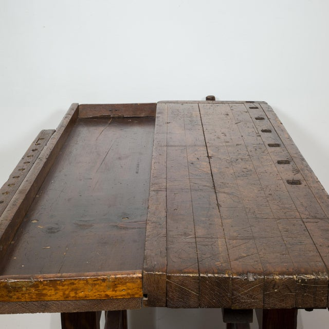 Black Walnut and Douglas Fir American Carpenter's Workbench C.1900 For Sale In San Francisco - Image 6 of 11
