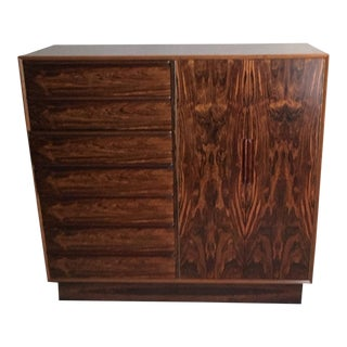 Westnofa Brazilian Rosewood Gentleman's Chest For Sale