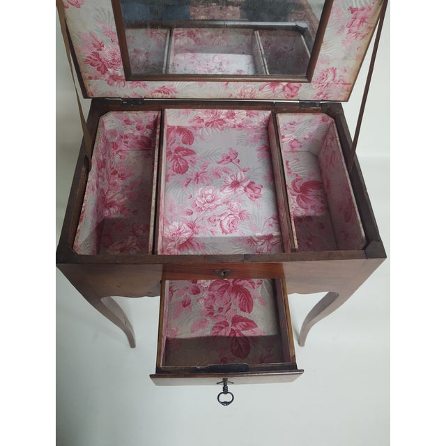Glass Early 19th Century Antique French Dressing Table. For Sale - Image 7 of 9
