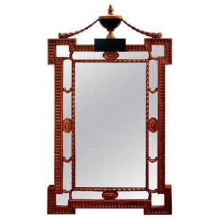 Late 19th Century Antique Urn Topped Mirror For Sale