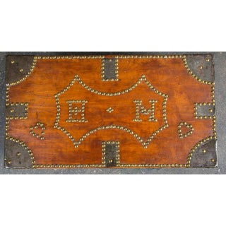 19th Century Tack Decorated Trunk Preview